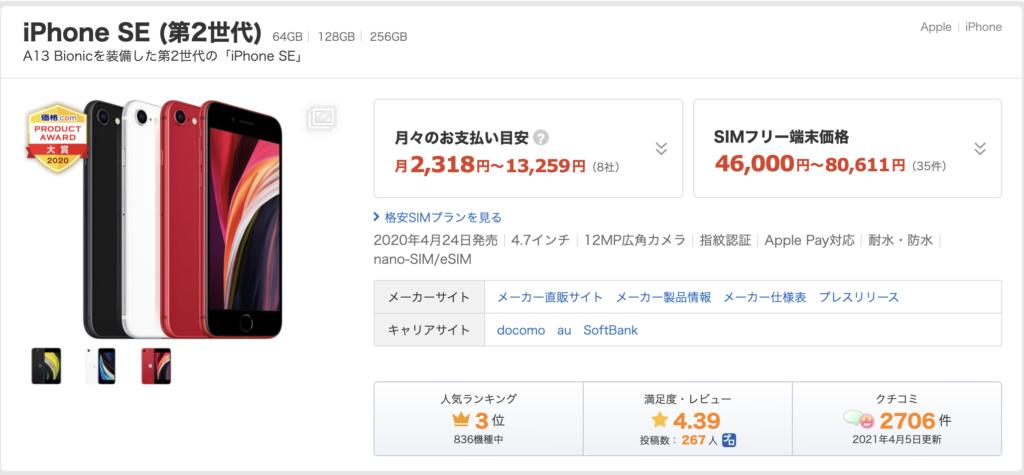 iPhone 価格 相場